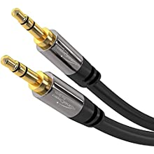 KabelDirekt - Aux Cord, Stereo & Audio Cable 3.5mm (Unbreakable & great for iPhones, iPads, Headphones, Smartphones, Notebooks, MP3 Players, Cars & other devices with 3.5mm Aux Port) - 5m - black