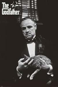 1art1 34718 Poster Le Parrain Marlon Brando Chat 91 x 61 cm