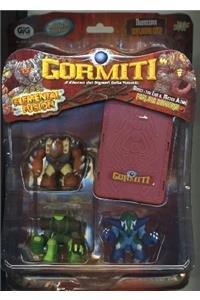 GIG 01245 Gormiti 3 PC ELEMENTAL FUSION TALKING WITH CARD