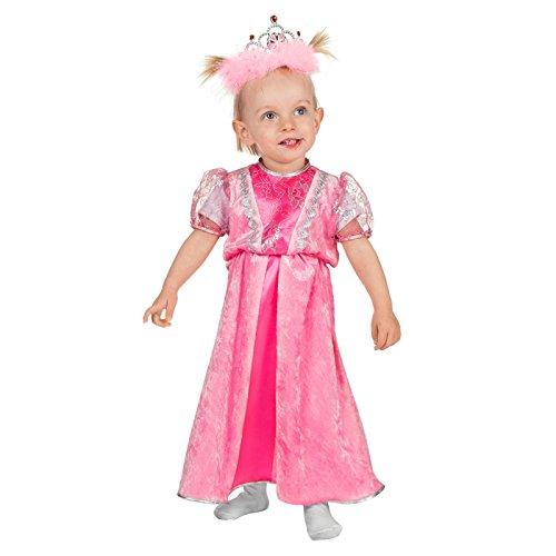 nd-Kostüm Prinzessin, rosa, Gr. 74-80 ()
