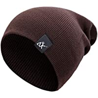 5b3ad076faa Unisex Solid Color Winter Knitted Beanies Hip-hop Snap Slouch Outdoor Hat  Men Women Skiing