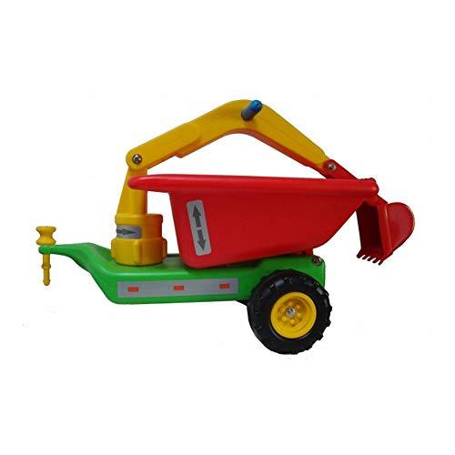 Anhänger mit Baggerarm - für Babyrutscher - grün DDR Kinderfahrzeug