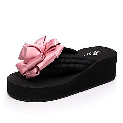Estate Sandali Flip flops Pattini scivolanti estivi femminili Sandali spessi Pattini da spiaggia di moda per 18-40 anni Colore / formato facoltativo 1001