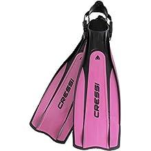 Cressi Unisex's Pro Light - Premium Scuba Diving Heel Fins, Black/Pink, Medium/Large