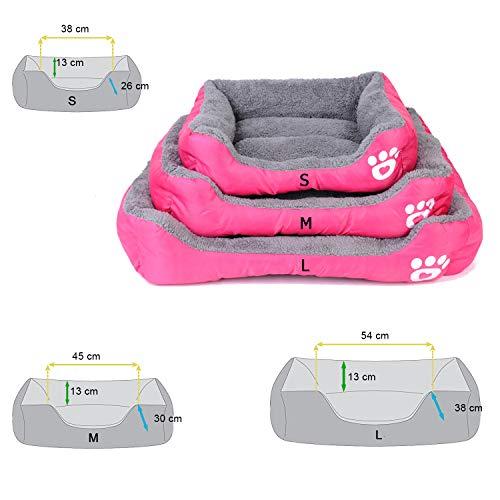 REXSONN® Hundebett kuscheliges, waschbares Hund Bett Hundekissen Hundesofa Hundekorb Hundehöhle hundehütte Katzenbet Tierbett Pet Dog Cat bed cushion - 2