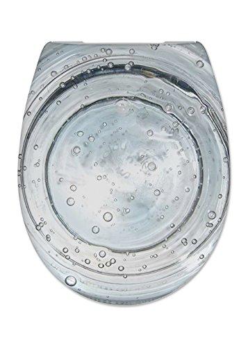 Cedo Design WC Sitz Sparkling Water mit Absenkautomatik Softclose Classic, Abnehmbar mit Takeoff Original Abnahmefunktion; aus Duroplast für ovale Keramiken mit Befestigung von