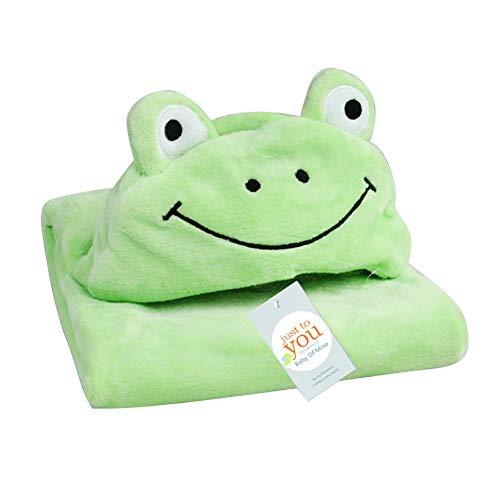tel mit Kapuze, Tiergesicht aus Kaschmir, Handtuch für Säuglinge und Kleinkinder, Frosch, 39x39 inches ()