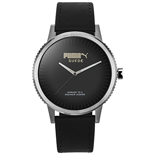 Puma Time Unisex-Armbanduhr PU-SUEDE - limited edition Analog Quarz Leder PU104101001 (Luxus-uhren, Limited Edition)