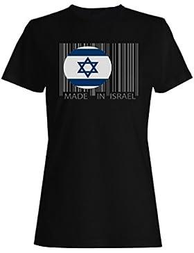 Hecho en mundo del viaje de israel novedad divertida camiseta de las mujeres uu45f