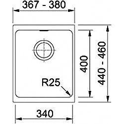 Franke Kubus KBG 110-34 Graphit Granit Küchenspüle Dunkelgrau Spültisch Unterbau