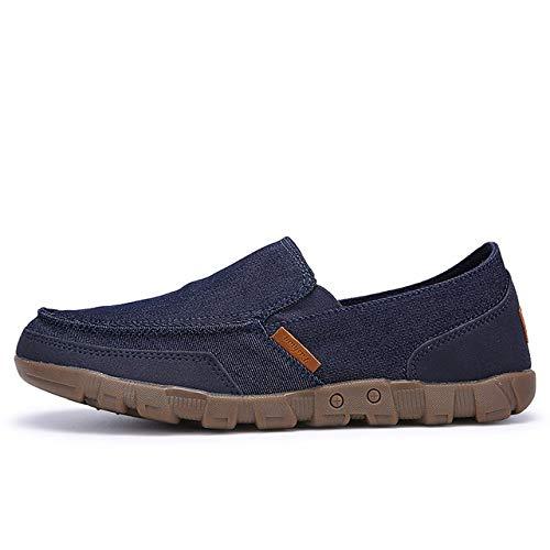 LFXIE Talla Grande 38-48 Zapatos Lona para Hombre Alpargatas Ocasionales Zapatillas Verano Resbalón...