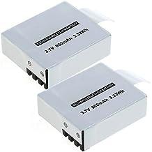 subtel 2X Batería Compatible con QUMOX DX288812 SJCAM SJ4000 SJ5000 SJ6000 Eken H8 H9 Evolveo Sportcam