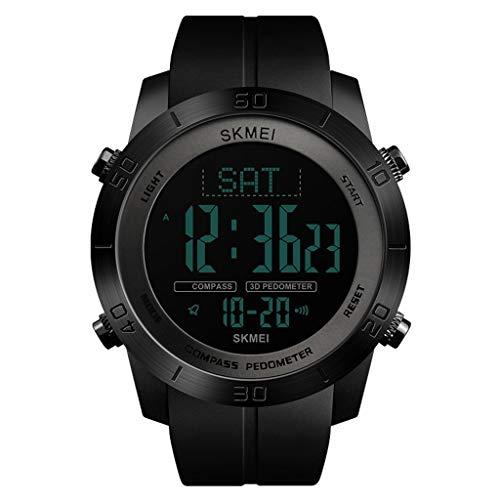 Watch Digitaluhren für den Menschen , Mode lässig, Herren Multifunktions wasserdicht Countdown/One-Step-Guide Trend (Color : A)