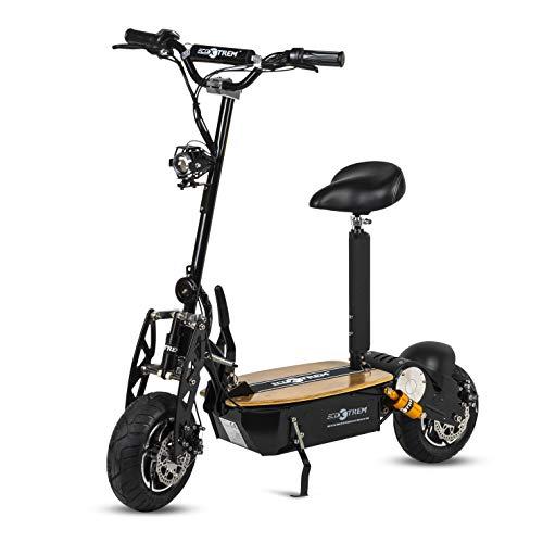 Patinete, Scooter tipo moto Eléctrico dos ruedas, Plegable, Color Negro,...