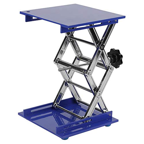 Akozon Labor Hebeplattform 7.9x7.9 '' Scientific Lab Labor Scissor Jack, Aluminium Oxide Labor Hebebühne Ständer Rack Scissor Lab Lift Lifter Für Graviermaschine