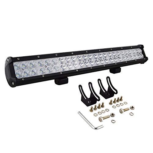 22 inch (56cm) 144W LED Barre Projecteur Phare de Travail LED Spot Flood Light bar pour Feux Diurne lumière off road lampe Feu de recul Camion Remorque 4x4 Tracteur 12V 24V