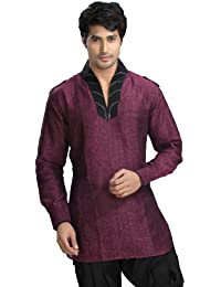 Indien Shirt Vêtements Mode Pour Hommes à Court Kurta Lin Coton Inde Robes
