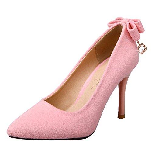 MissSaSa Donna Scarpe col Tacco Spillo Alto Moda Shoes Elegante Rosa