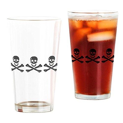 CafePress-William Condon (Pirat) Jolly Roger: Flagge Pirat schwarz-Pint-Glas, 16oz Trinkglas frosted -