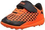 Puma Unisex-Kinder Future 2.4 TT V Inf Fußballschuhe, Schwarz Black-Shocking Orange 01, 26 EU