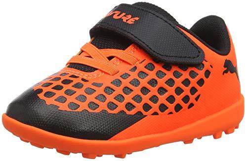 Puma Unisex-Kinder Future 2.4 TT V INF Fußballschuhe, Schwarz Black-Shocking Orange 01, 22 EU