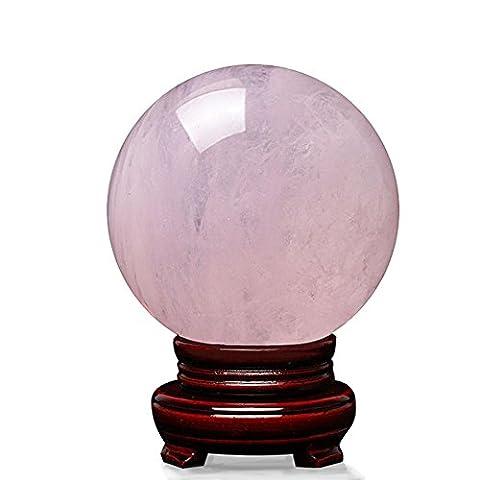 Rose Quarz-Stein poliert Kristallkugel Balancing Geschenk Tischdekoration , diameter 13cm (base)