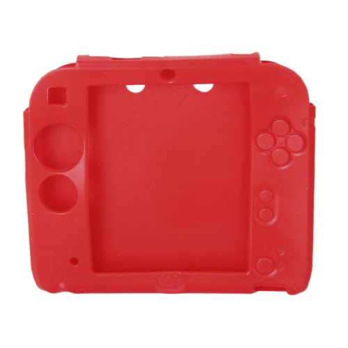 Generic Protective Silicone Case Cover for Nintendo 2DS---Red [Importación Inglesa]