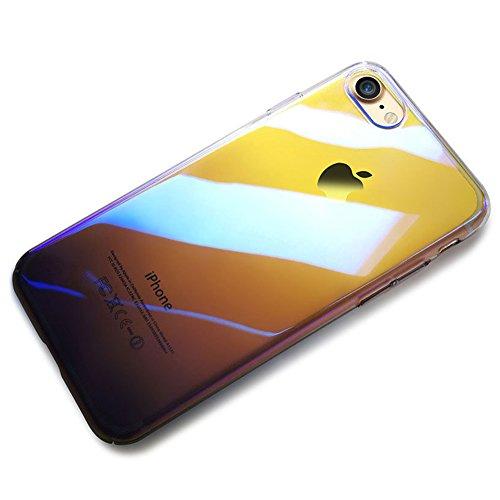 Custodia iPhone 6 Plus, iPhone 6S Plus Cover Trasparente, SainCat Custodia in Hard Plastic Protettiva Cover per iPhone 6/6S Plus, 360 Gradi Full Body 3D Design Custodia in Ultra Slim Transparent Case Nero