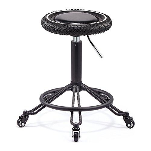ALUK - High stools/Folding chairs Retro Swivel High Quality Schwarz Rebar Computer Schreibtisch...