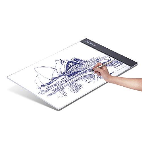 Aibecy Portable A4 LED Light Box Zeichnung Tracing Tracer Copy Board Tischplatte Panel Copyboard mit USB Kabel für Künstler Animation Skizzieren Architektur Kalligraphie Schablone