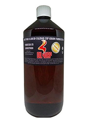 Base para vapeo sin nicotina, fabricación española, grado farmaceútico. 30% propilenglicol, 70% glicerina. Producto sin nicotina.