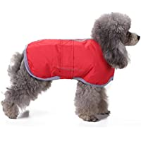 Rawdah_Mascota Ropa para Perros Peque?os Abrigos Camiseta Jerseyss Tiempo Frío Perro Abrigos Loft Reversible Invierno Forro De Perro Chaleco Mascota Chaqueta