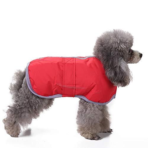(Amphia - Haustier Hund Klettjacke Mantel Kleidung,Kaltes Wetter Hundemäntel Loft Reversible Winter Fleece Hundeweste Haustier Jacke(Rot,L))