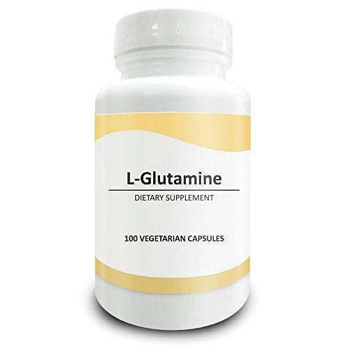 Pure Science 1500mg L-Glutammina - Promuove la Crescita Muscolare, Combatte la Permeabilità Intestinale - 100 Vcaps