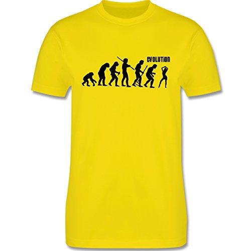 Evolution - Tanz Evolution - Herren Premium T-Shirt Lemon Gelb