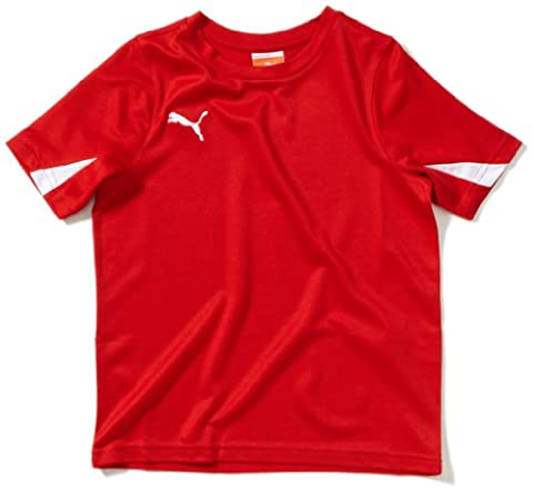 Puma Team Maillot football garçon Rouge/Blanc FR : 12 ans (Taille Fabricant : 152)