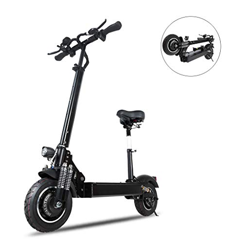 URCAR Elektroroller Doppelmotor 52V 2000W 10 Zoll Reifen 70Km / h Zusammenklappbares elektrisches Motorrad-Pedal Fahrrad