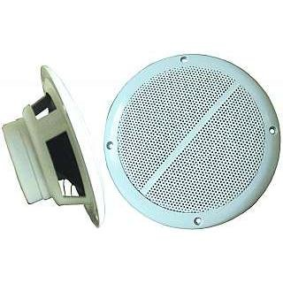 """Außenlautsprecher """"M-65"""", 2-Wege, 8 Ohm, 100 Watt, 165 mm, weiß, Paar"""
