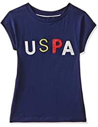 US Polo Kids Girls' Plain Regular Fit T-Shirt