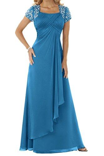 HUINI Paillettes Chiffon Madre degli abiti da sposa abiti lunghi da sera di promenade Size 38