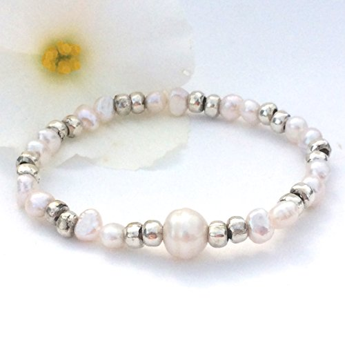 stretch-bracelet-with-thai-silver-and-freshwater-pearls