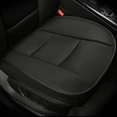 LUOLLOVE Coprisedile Auto Universale Anteriori, Super Soft Confortevole Traspirante PU Protezione per Sedile Auto (1 Pezzo Nero)