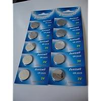 50 x CR2025 3 V baterías de litio de BR2025 DL2025 KCR, 2025 paquetes de 5 pilas de botón