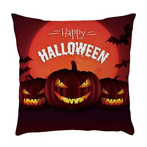 Kostüm Clipart Party - Laile Halloween Kissenbezug Punk Halloween Festival Love The Skulls Cushion Party Couch als Deko, 45 * 45cm Sofa Dekokissen Zierkissenbezüge Horror Home Decor Dekoration Sofakissen