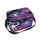 UFO Galaxy Universe Isolierte Lunchbox Tasche mit Gurt für Schule Büro Kühltasche Herren Damen Kinder Mädchen Jungen Erwachsene
