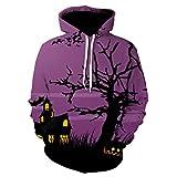 iHENGH Sweatshirt Tops,Männer Frauen Mode 3D Drucken Lange Ärmel Halloween Paare Hoodies Top Bluse Shirts