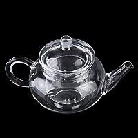 Teiera di vetro resistente al calore teiera trasparente con infusore caffè fiore foglia di tè vaso di erbe 250ml durevole