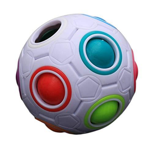 VUKUB Einzigartiges Kinderkugelförmiges Regenbogen-Ball-Fußball-Magisches Spielzeug-Buntes Block-Spielzeug
