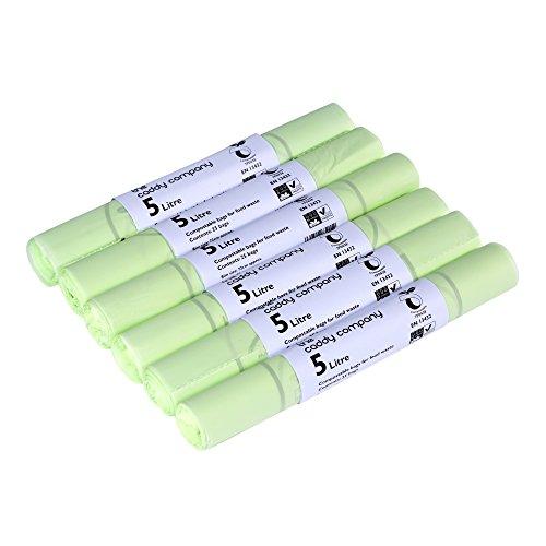 The Caddy Company - Bolsas de basura (5 L, 150 bolsas), color verde