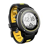 Cimix Smart Watch, GPS Sports Watch Running Watch IP68 Waterproof Treadmill Walking Marathon ip68 Deep Waterproof Fitness Workout Support kompatibel mit iOS und Android,Yellow